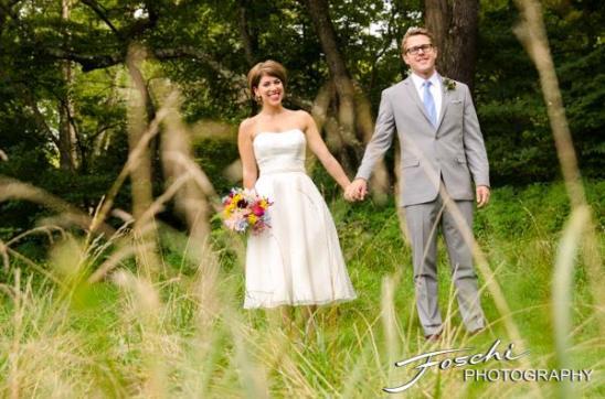 Foschi summer field wedding bride groom