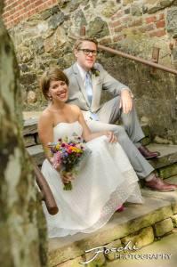 Foschi summer field wedding steps bride groom