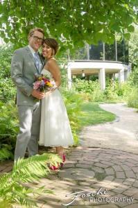 Foschi Summer field wedding stone walk