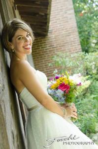 Foschi summer field wedding the bride