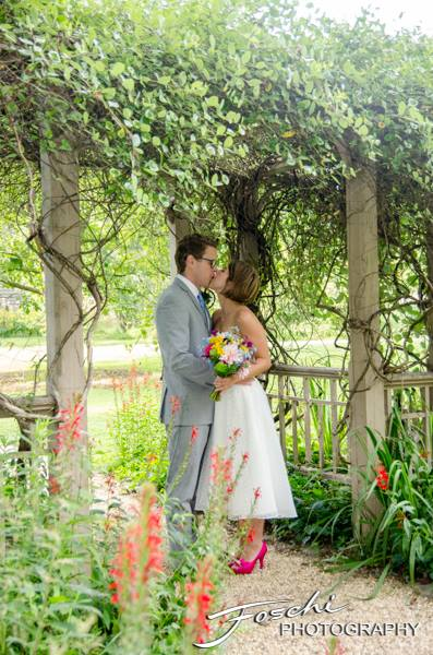 Foschi summer field wedding the flower arbor