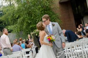 Foschi summer field wedding the kiss