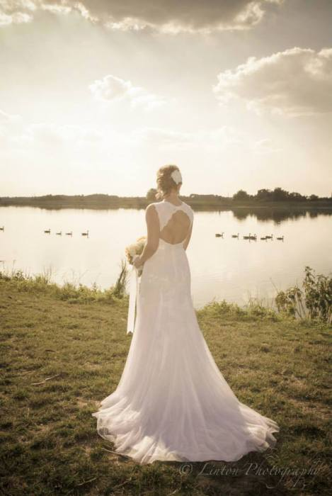 Linton Heritage wedding bride water sky