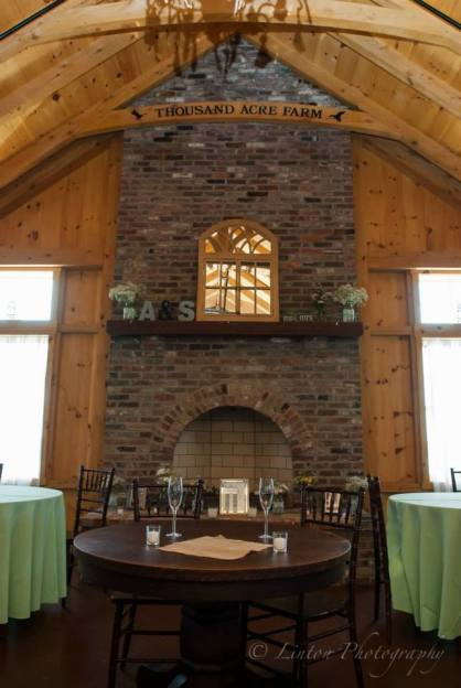 Linton Heritage wedding fireplace and room