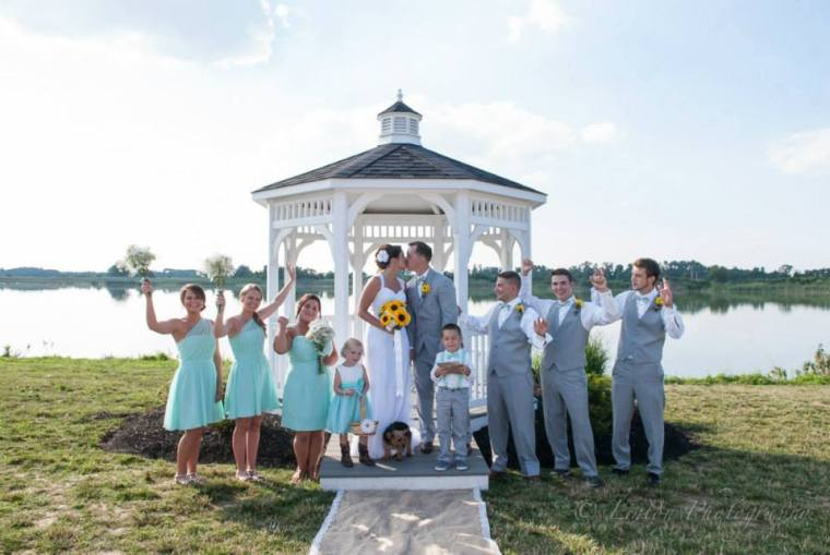 Linton Thousand Acre WEdding gazebo bridal party