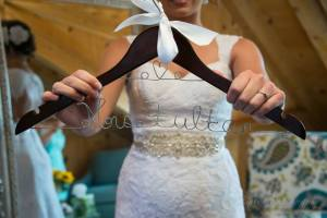 Linton Thousand Acre Wedding hanger dress