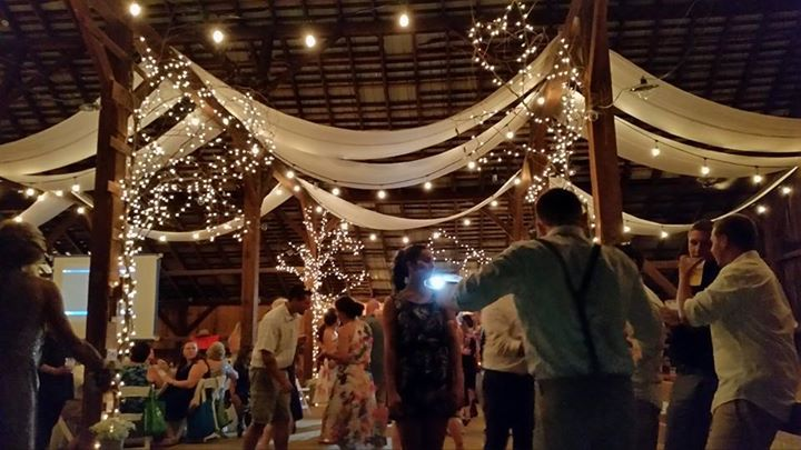 Memorable Events by Peggy wedding barn inside decor