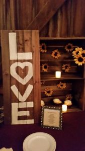 Memorable Events by PEggy wedding barn sign love