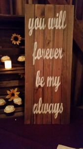 Memorable Events by Peggy wedding barn sign