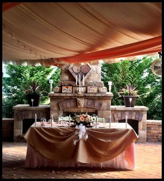 Executive Wedding patio set up for ceremony