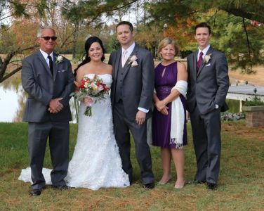 Baker Barn wedding grooms family