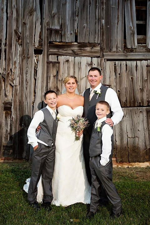 Louis Marie Bridal wedding bride groom and boys