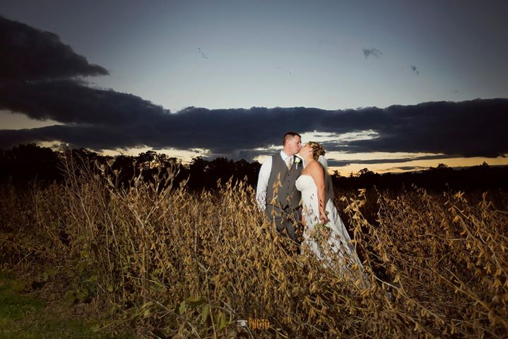 Louis Marie bridal wedding dramatic photo in field