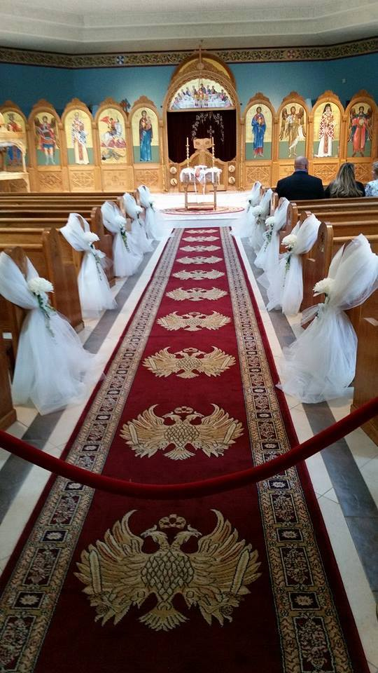 Memorable Events church wedding aisle