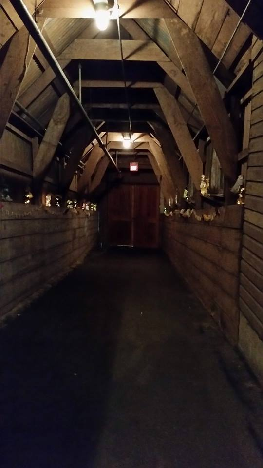 Memorable Events church wedding barn foyer