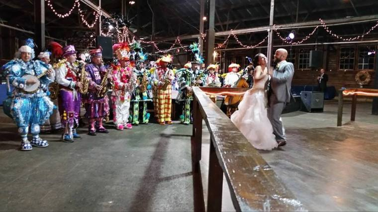 Memorable Events church wedding dancing and Mumers