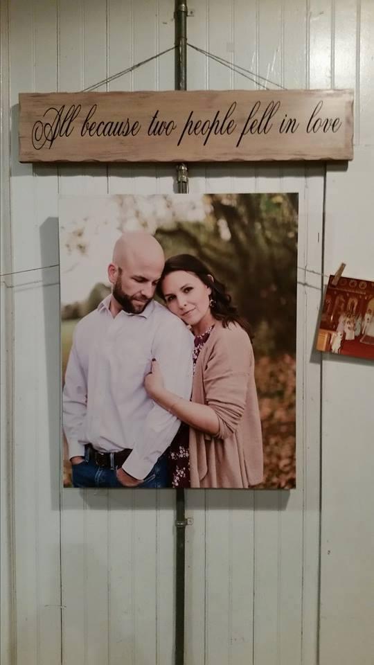 Memorable Events church wedding wall photo