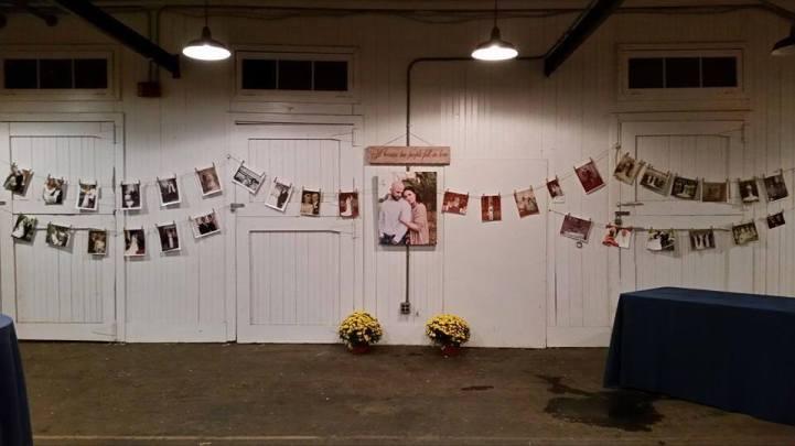 Memorable Events church wedding wall photos