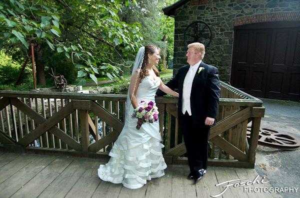 Foschi Hagley wedding bridge fence