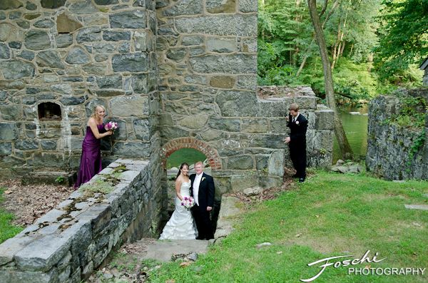 Foschi Hagley wedding stone wall arch