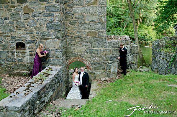 Foschi Hagley wedding stone wall arch