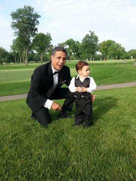 Collars n cuffs LEn Brown and grandson at wedding