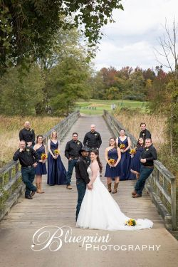 Blueprint cowboy wedding white clay creek party bridge