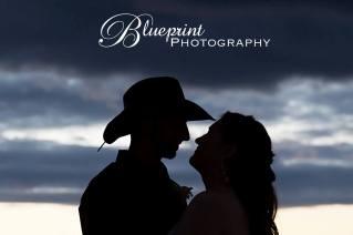 Blueprint cowboy wedding white clay creek silouhette