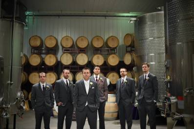 Kerry winery Valenzano men and barrels