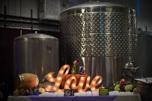 Kerry winery Valenzano wine table