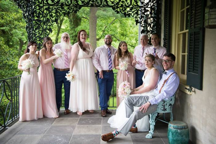Hagley Fantail bridal party cute expressions