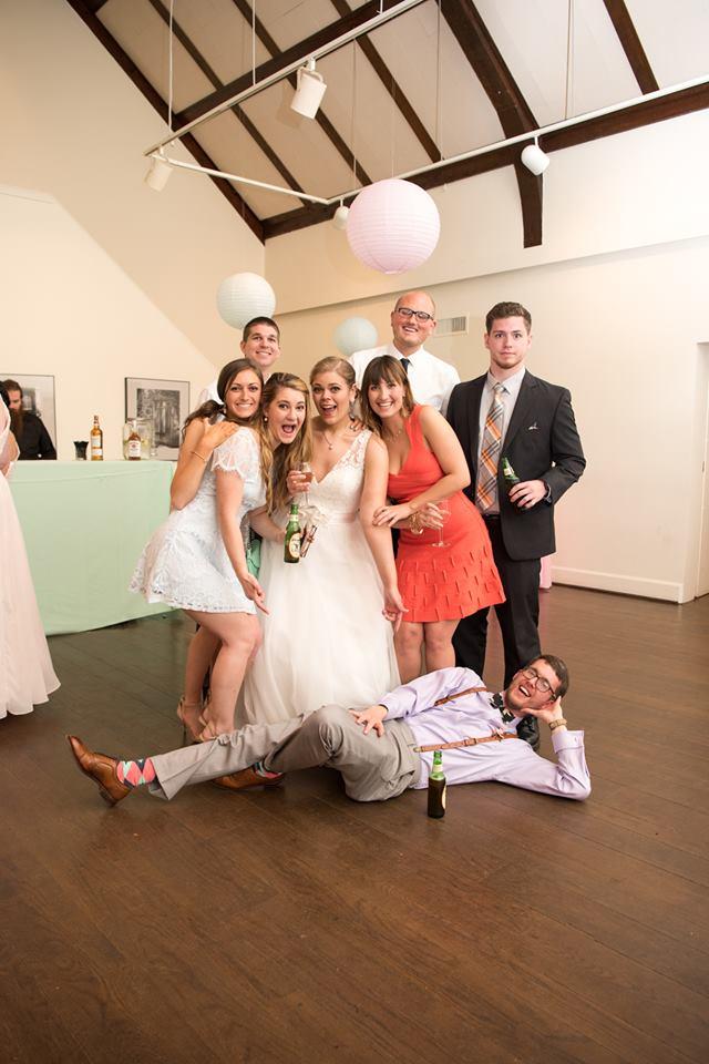 Hagley Fantail bride groom guests cheesecake