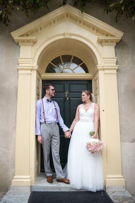 Hagley Fantail Bride Groom manor house blue door