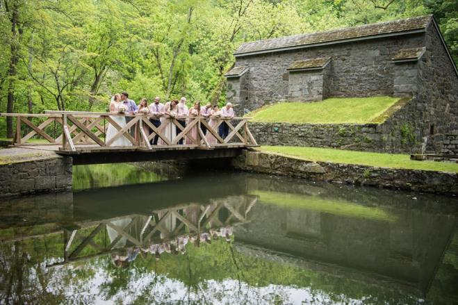 Hagley Fantail bridge bridal party
