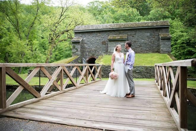 Hagley Fantail Bridge bride groom
