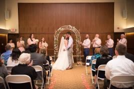 Hagley Fantail ceremony kiss