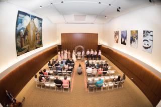 Hagley Fantail ceremony room fisheye