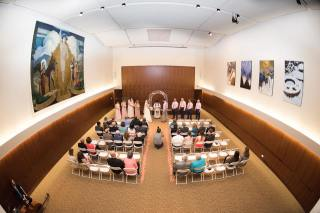 Hagley Fantail ceremony room fisheye
