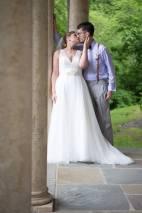 Hagley Fantail columns bride groom