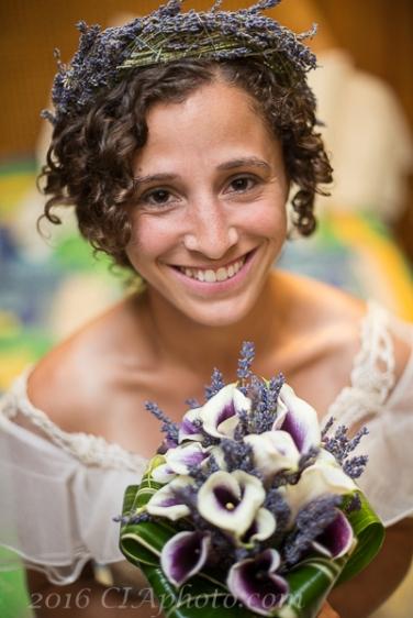 Creative Image LExy beach wedding bride and lavendar