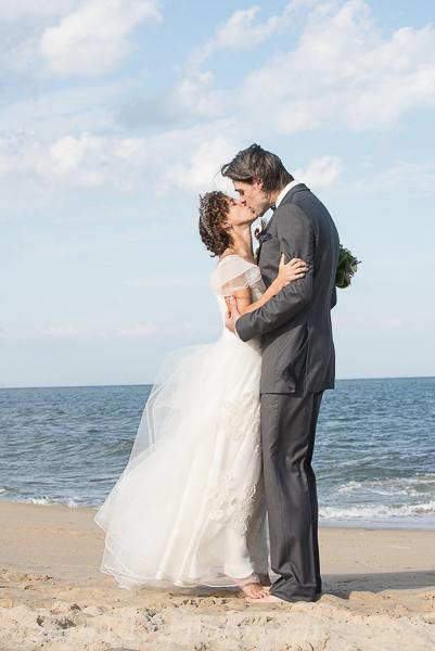 Creative Image Lexy beach wedding bride groom kiss