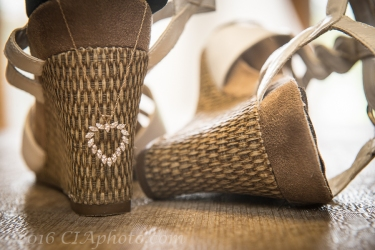 Creative IMage Lexy beach wedding shoes and heart