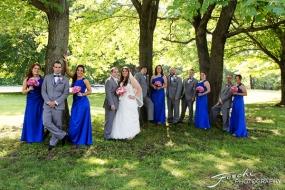 Foschi Orner Bridal party under trees