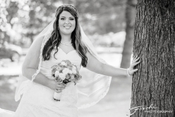 Foschi Orner bride against tree bw