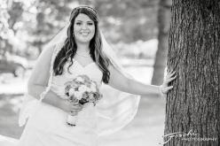 Foschi Orner bride against tree bw