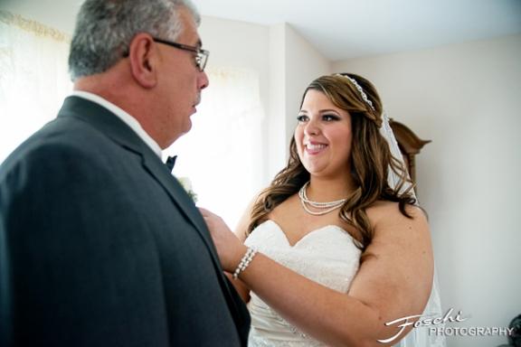 Foschi Orner bride and father