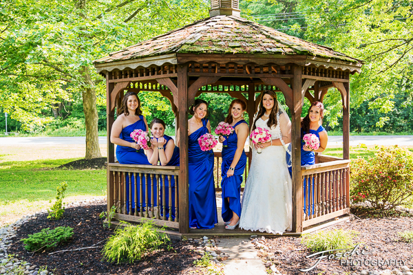 Foschi Orner Bride and maids in gazebo