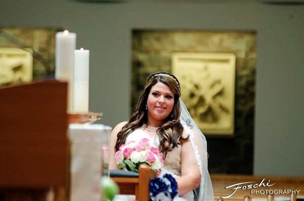 Foschi Orner bride at altar
