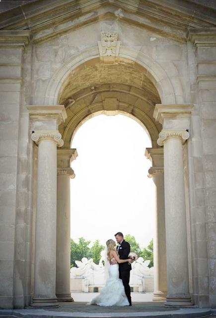 Kerry Harrison Nemours Waterfall wedding archway