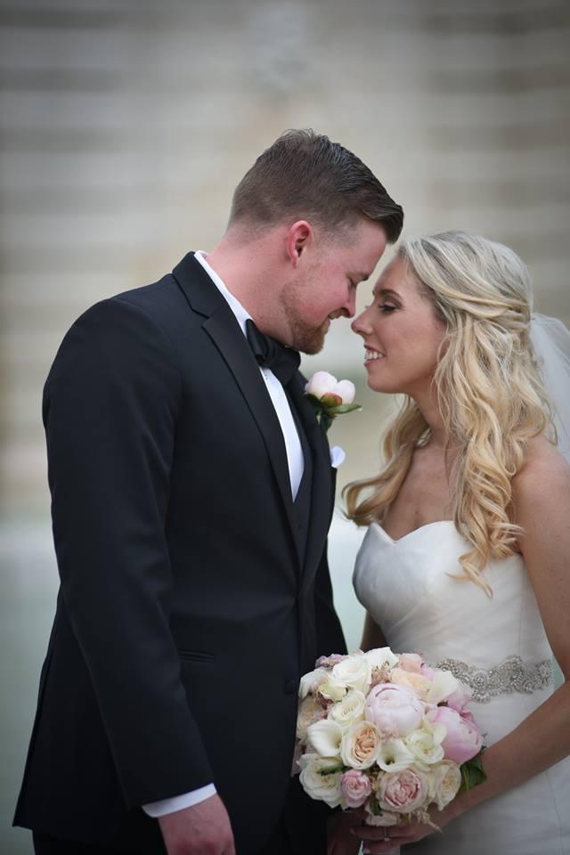 Kerry Harrison nemours waterfall wedding bride groom